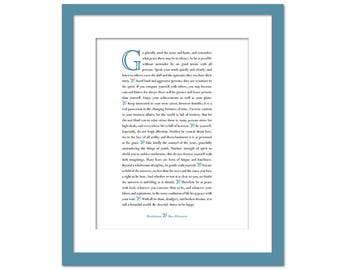 Desiderata Max Ehrmann - Literary Quote - Inspirational Art - Motivational Print - Proverb - Typographic Print - Inspirational Poem - Poetry