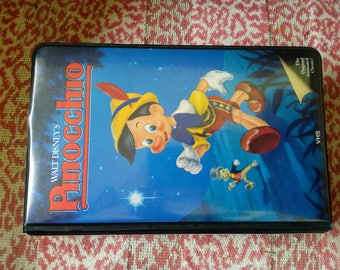 Pinocchio vhs, 1985 red lable, RARE