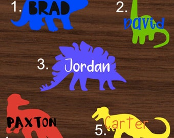 Personalized Dinosaur with name Decal | Dino Yeti Decal | Dinosaur RTIC Decal | Customized Decal