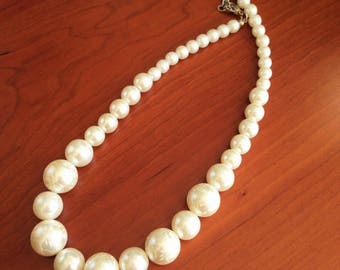 Necklace - High quality pearl bead necklace vintage beads