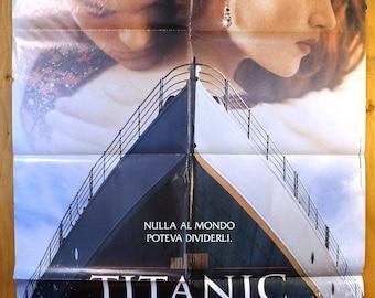 "Titanic  French Subway Movie Poster  ""Titanic""  starring Leonardo DiCaprio and Kate Winslet"