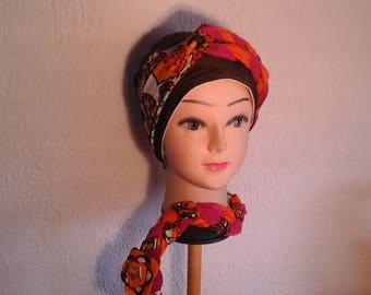 Preformed multicolor mid summer, girls or women, chemo turban Hat