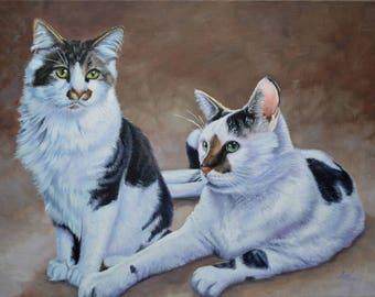Custom Pet Portrait Oil Painting on Canvas 12x16
