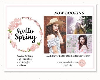 Senior Photography Marketing for Photographers, Spring Session Template with Pictures, Photoshop Templates For Photography, m212