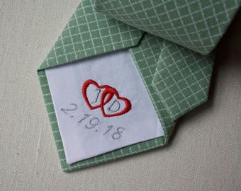 tie patch for valentines day,valentines day gift for him,necktie with hearts,gift for him on valentines day