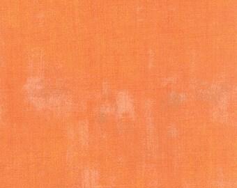 Moda Grunge Basics Clementine Orange Modern Mottled Background Fabric 30150-284 BTY