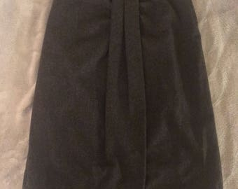 Charcoal Gray Wool Skirt