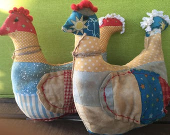 Chicken Doll , Animal Doll , Farmhouse Decor , Primitive Decor , Handmade Doll , Country Primitive Decor , Rooster , Country Decor, Chicken