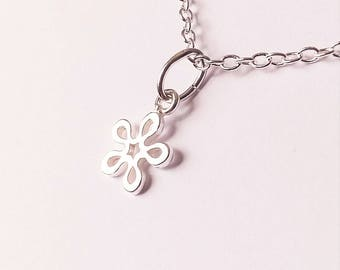 Valentine's day - Gifts for girlfriends - Sterling Silver Charms - Flower girl - Gifts for women - Silver necklace - Gift for her