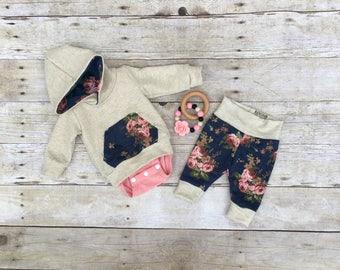 Infant hoodie and pants set