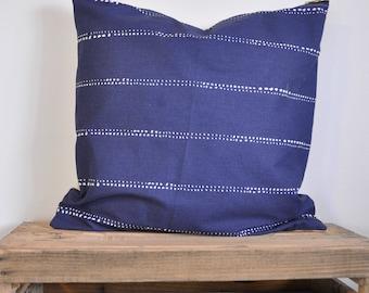 Navy Blue Dotted Throw Pillow Cover | Navy Blue Pillow | Throw Pillow