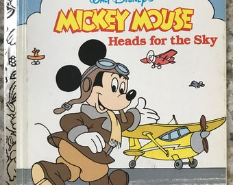a Little Golden Book -  Walt Disney's Mickey Mouse Heads for the Sky