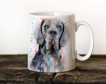 Blue Great Dane Mug Watercolor Ceramic Mug Unique Gift Coffee Mug Animal Mug Tea Cup Art Illustration Cool Kitchen Art Printed mug dog