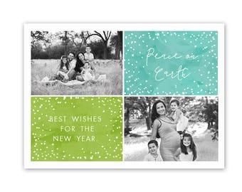 Holiday card template, christmas card template, 5x7 christmas cards