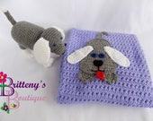 Baby Girl Blanket / Crochet Baby Girl Blanket / Knit Baby Blanket / Amigurumi Plush Puppy / Plush Toy Puppy / Crochet Puppy / Amigurumi Dog