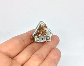 Miniature Micro Tiny Fully Furnished Cottage House for 24th or 12th Dollhouse Baby Nursery Room Toy or 1/48 1:48 48th Wendy House ?