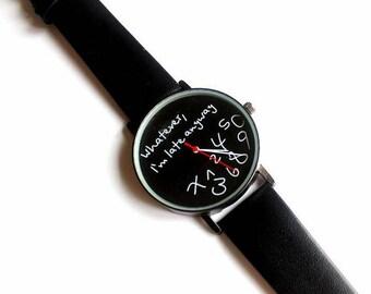 Sporty  watch in black