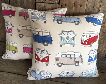 Vw campervan cushion cover,decorative pillow case,camper van cushion cover,cushion,pillow cover.