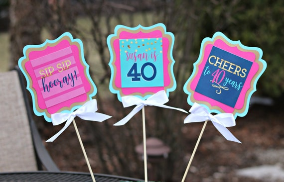40th BIRTHDAY PARTY Centerpiece Table Decoration Party