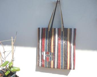 Sac shopping, cabas marché ou bibliothèque tote-bag en jean vintage graphique
