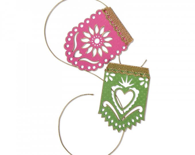 New! Sizzix Thinlits Die Set 2PK - Banners, Papel Picado by Crafty Chica 662321