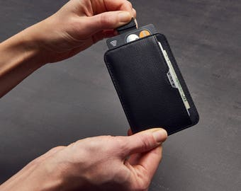 CHELSEA Slim Card Sleeve Wallet with RFID Protection,  Ultra Thin Card Holder Design (Black)