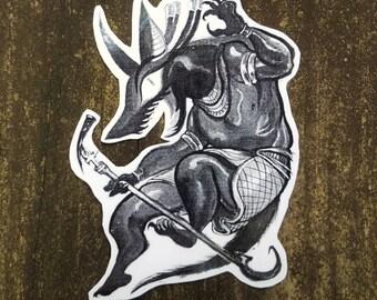 STICKER: anubis sticker | egyptian mythology | egyptian god