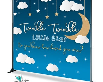 Twinkle Winkle babyshower Step and Repeat | Twinkle Winkle babyshower Backdrop