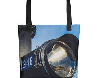 Tote bag - Red Silo Original Art - Engine 346