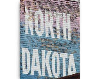 Canvas - Red Silo Original Art - North Dakota Building