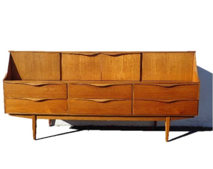 Featured Listing Image: Mid Century Modern Danish TV Media Console  Sideboard Furniture Cabinet Buffet Server