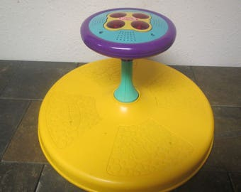 vintage 1973 TONKA PLAYSKOOL  Sit n Spin * Musical childs toy  lights up, ride on toy
