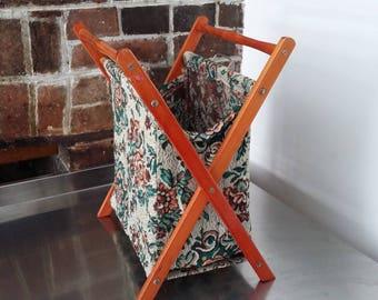 Vintage Needlework Holder Basket