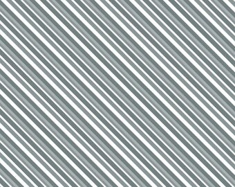 Grey Alpine Stripe Wilmington Prints Fabric #6993 By the Yard