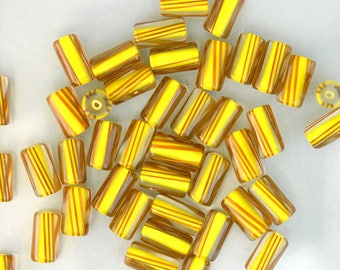 Goldenrod Yellow with Brown Stripes, Small mixed size by Virginia Wilson Toccalino, 1 oz A1