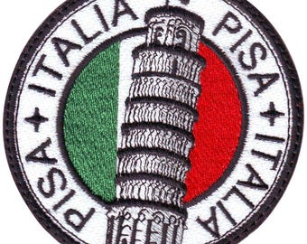 Pisa Italy Embroidered Sew On Patch