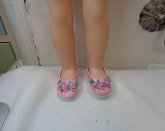 Pretty Pink Shoes for 14 Inch Dolls- Fits Wellie Wishers and Hearts for Hearts and les Cheries Dolls