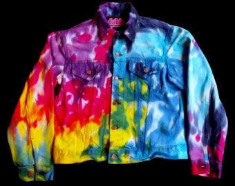 Rainbow Tie Dye Jean Jacket Levis Small