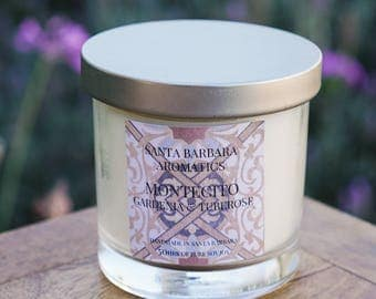 MONTECITO Gardenia & Tuberose Soy Candle | Gift for Women | Gift for Her | Gift for Mom | Bridesmaid Gift | Candle | Birthday