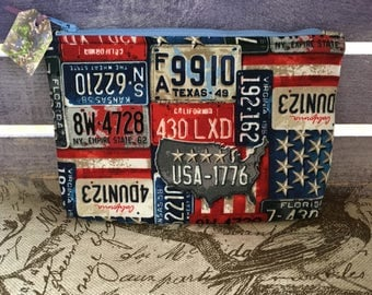 Pickwick Flightsuit Bag- Patriotic License Plates