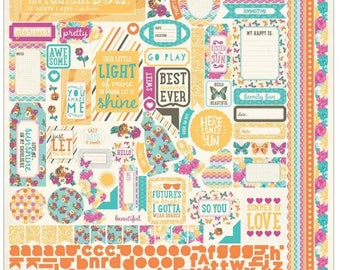 AUTHENTIQUE Radiant Collection 12 X 12 Sticker Sheet, Details Sticker Sheet, Floral Scrapbook and Papercraft