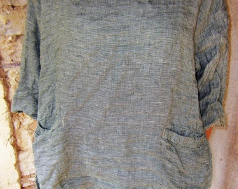 Linen top handmade one of a kind