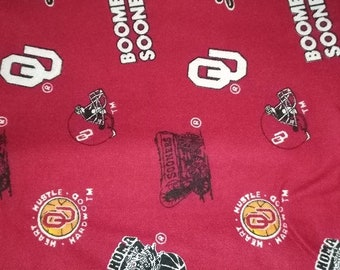 University Of Oklahoma Sooners OU Cotton Fabric
