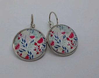 Earrings sleepers floral theme