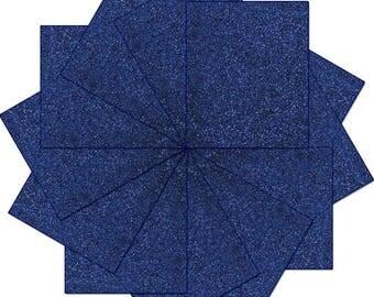 "Pre-cut Sheets Glitter Heat Transfer Vinyl - Navy - 12 Sheets - 10""x12"""