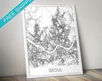 Seoul Map Print