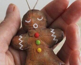 Little 6 cm #4, Christmas ornament gingerbread man