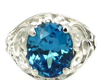 On Sale, 30% Off, Swiss Blue Topaz, Sterling Silver Ring, SR004