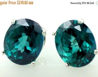 On Sale, 30% Off, Paraiba Topaz, 925 Sterling Silver Post Earrings, SE102