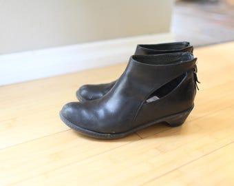 vintage dansko black leather ankle boots womens 8  38